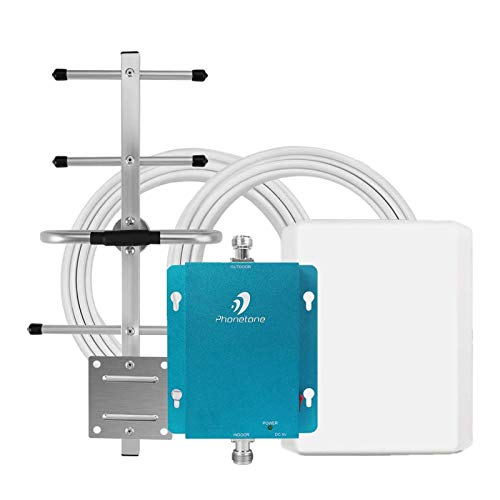 Cell Phone Signal Booster for Home and Office - 850MHz Band 5 GSM 3G Cellular Repeater with Directional Panel/Yagi Antennas - Boost Voice, Text Up to 4,500 Sq Ft Area