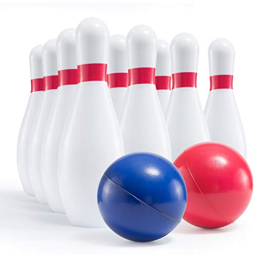 Prextex Kids Size Foam Bowling Set Soft but Sturdy Bowling Set for Kids