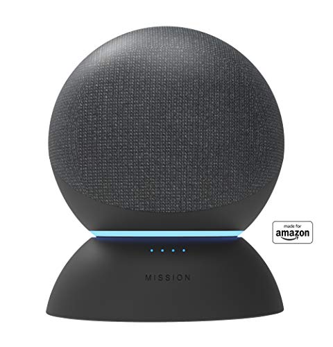 Battery Base in Black, for Echo (4th generation). Not compatible with previous generations of Echo or Echo Dot (1st Gen, 2nd Gen, or 3rd Gen).