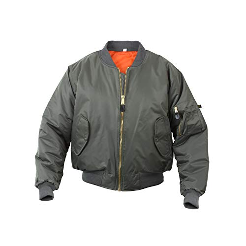 Rothco MA-1 Flight Jacket, M, Sage Green