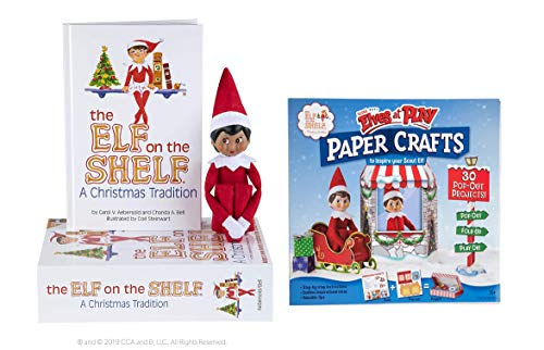 The Elf on the Shelf: A Christmas Tradition Girl Scout Elf (Brown Eyed) with Scout Elves at Play Paper Crafts