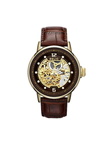Relic Men's Damon Automatic Self-Winding Stainless Steel Skeleton Dial Watch