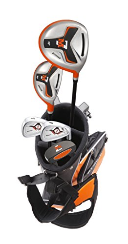Precise M7 Junior Complete Golf Club Set for Children Kids - 3 Age Groups - Right Hand (Ages 3-5 Red, Right Hand)