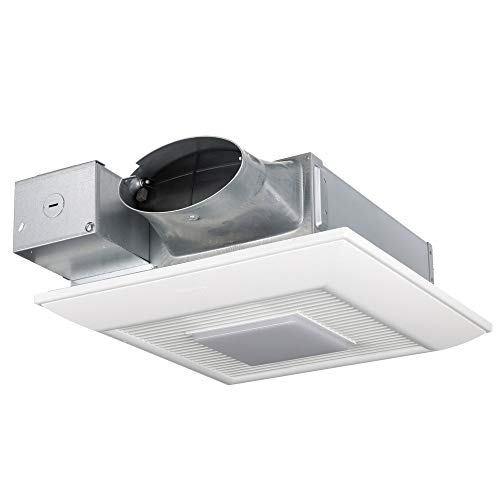 Panasonic FV-0510VSL1 WhisperValue DC Ventilation Fan/Light with Pick-A-Flow Speed Selector, Low Profile, Extremely Quiet, Long Lasting, Easy to Install, Code Compliant, Energy Star Certified, White