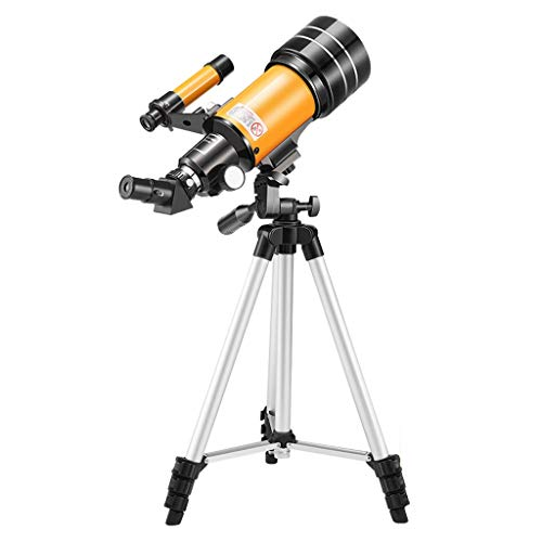 Telescope, 70mm Aperture 400mm AZ Mount Astronomical Refracting Telescope for Kids Beginners - Travel Telescope with Carry Bag, Phone Adapter 1.5X Erecting Eyepiece 3X Barlow Lens