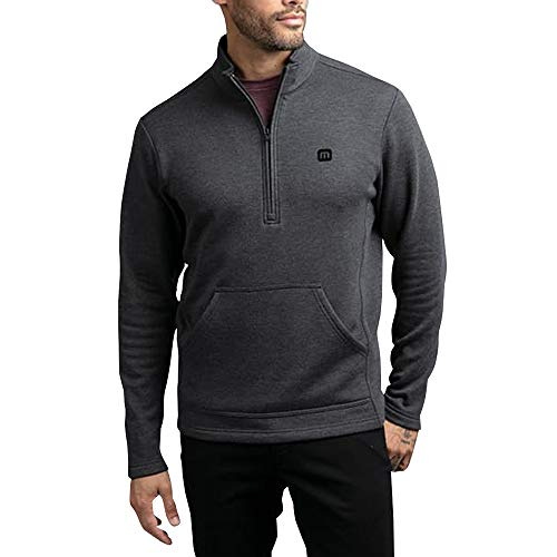 TRAVISMATHEW New That's The ONE Golf Pullovers Heather Black Large