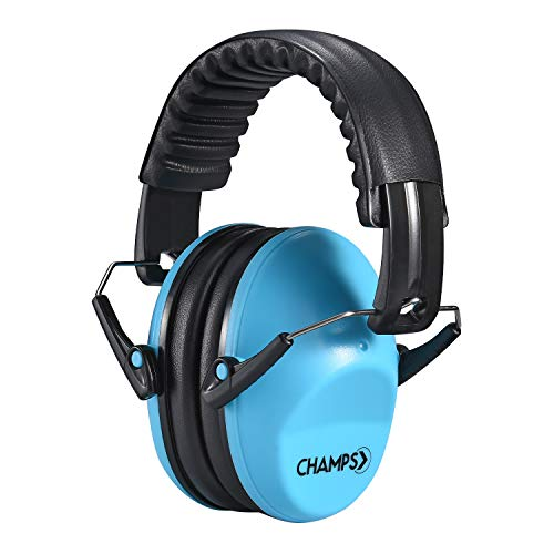 Kids Ear Muffs Champs Earmuff Noise Protection Reduction Headphones for Toddlers Kid Children Teen NRR 25dB Safety Hearing Ear Muff Shooting Range Hunting Season [Blue]