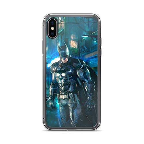 iPhone 7 Plus/8 Plus Shockproof Anti-Scratch Case Bat-Man Superhero Comic Behind Batmobile