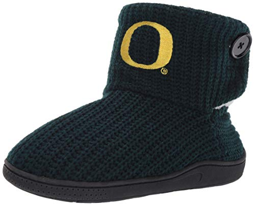 FOCO NCAA Oregon Ducks Womens Knit 2 Button BootKnit 2 Button Boot, Team Color, Large / 9-10