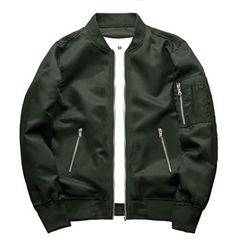 TOTNMC Outwear Windproof Coat or Men Activewear Lightweight Jacketfor Men Varsity Bomber Jacket Green, Medium