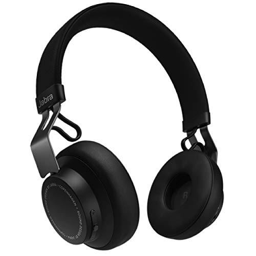 Jabra Move Style Edition, Black – Wireless Bluetooth Headphones with Superior Sounds Quality, Long Battery Life, Ultra-Light and Comfortable Wireless Headphones, 3.5 mm Jack Connector Included