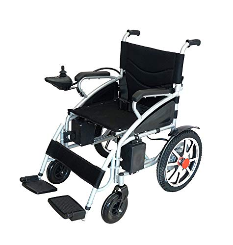 2020 Electric Wheelchair, Fold Folding Foldable Lightweight Power Wheel Chair, Heavy Duty Electric Power Motorized Wheelchairs, Mobility Scooter Electric Wheelchair, Best Deal (Black)