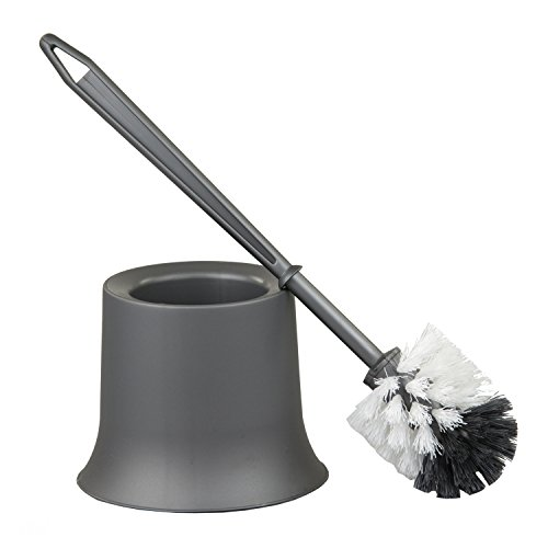 Home Basics Toilet Brush Holder, Grey