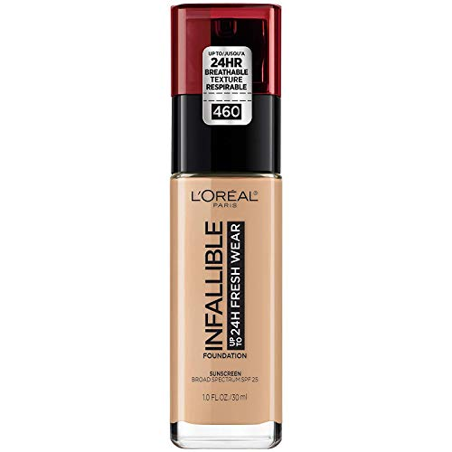 L'Oreal Paris Makeup Infallible Up to 24 Hour Fresh Wear Foundation, Golden Beige, 1 fl. Ounce