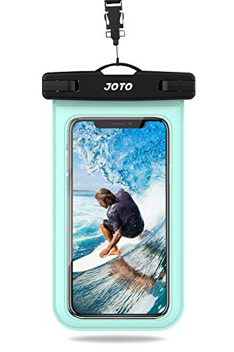 JOTO Universal Waterproof Pouch, IPX8 Waterproof Cellphone Dry Bag Underwater Case for iPhone 11 Pro Max Xs Max XR X 8 7 6S+ SE 2020, Galaxy S20 Ultra S10 S9 S8/Note10+ 9 up to 6.9' -Green