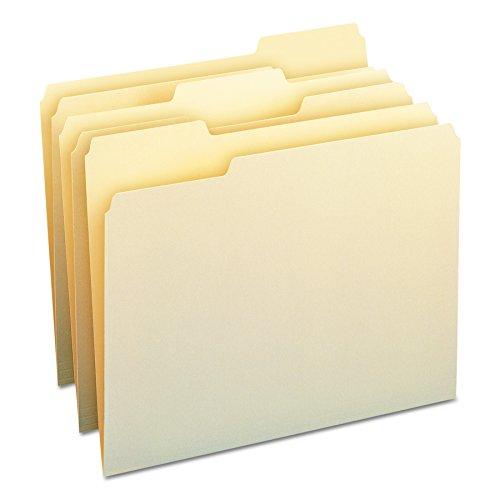 Smead File Folder, 1/3-Cut Tab, Letter Size, Manila , Assorted Positions, 100 Per Box (10330)
