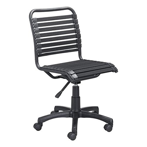 Zuo Modern Stretchie Office Chair, Black Bungee Style Weave, Right Mix of Comfort and Flexibility, 250 lbs Weight Capacity, Dimensions 22.8'W x 33.5'H x 22.8'L
