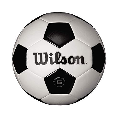 Wilson Traditional Soccer Ball - Size 5 , White/Black
