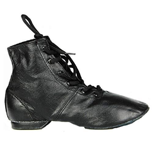YHBracer Women PU Leather Jazz Dance Shoe Ballet Dance Shoes for Jazz,Ballet,Yoga (4.5) Black