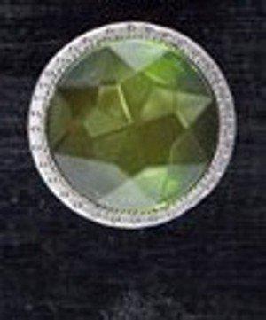 Carol Beach, Faceted Faux Gemstone Knob, 1 1/2' dia., Light Green
