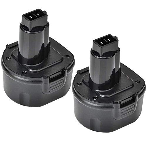 2 Packs 9.6V 3600mAh Ni-Mh Replacement for Dewalt 9.6 Volt Battery DW9061 DW9062 DE9036 DE9062 DW9614 Cordless Power Tools