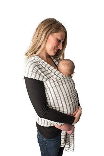 Baby Wrap Carrier -Sling, Easy to Put On-Stripes, Swaddle for Close Comfort - Adjustable Breastfeeding Cover - Lightweight Sling Baby Carrier for Infant - Soft, Comfortable & Breathable (Stripes)