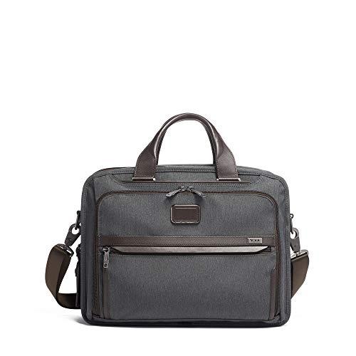 TUMI - Alpha 3 Organizer Laptop Brief Briefcase - 15 Inch Computer Bag for Men and Women - Anthracite