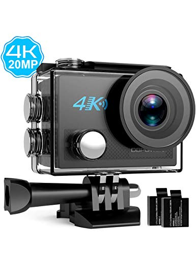 DBPOWER EX7000 DB0918 Sports Action Camera 4K, 14MP Touchscreen Waterproof Camera 170 Degree Wide Angle 2.4G Remote Control and Accessories Kit
