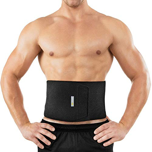 Bracoo Waist Trimmer Wrap, Sweat Sauna Slim Belt for Men and Women - Abdominal Trainer, Increased Core Stability, Metabolic Rate, SE20