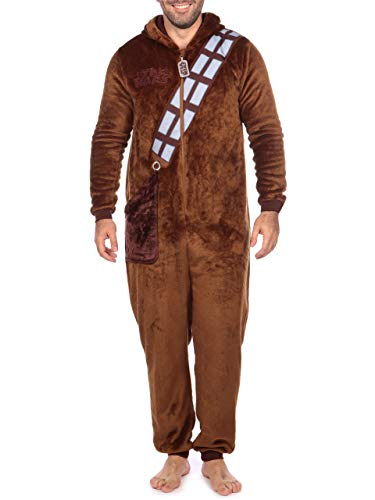 Star Wars Mens Chewbacca Onesie Size Large Brown