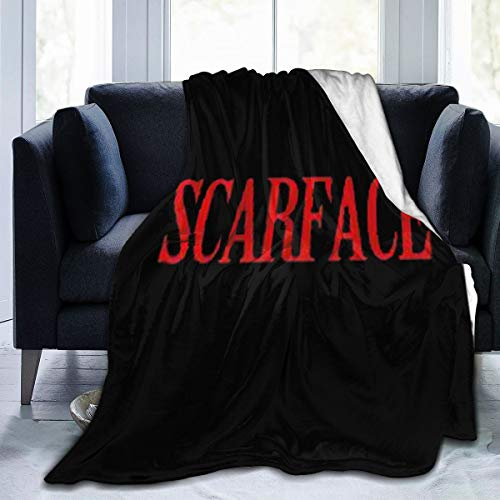 MHOONOW Scarface-Cool Ultra-Soft Micro Fleece Throw Blankets for Bed Car Camp Couch Fall Plush Throw Blanket for Adults Kids