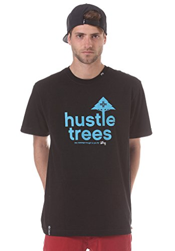 LRG Men's Core Collection Ten Hustle Trees Shirts,2X-Large,Black