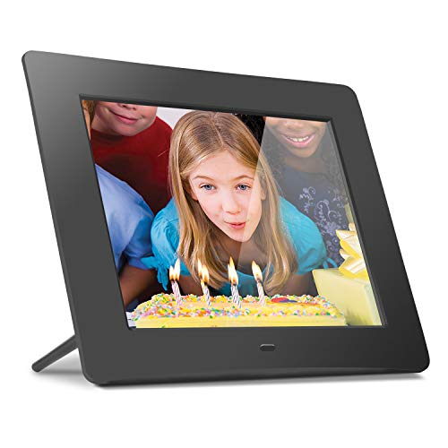 Aluratek (ADMPF108F) 8' Hi-Res Digital Photo Frame with 4GB Built-In Memory (800 x 600 Resolution), Photo/Music/Video Support