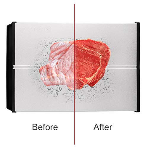 Rapid Defrosting Tray Natural Thawing plate - Eco Friendly Defrosting board with Thickness 0.2' and Stable Framework for Frozen Meat, Fish, Vegetables, No Heating, BPA Free