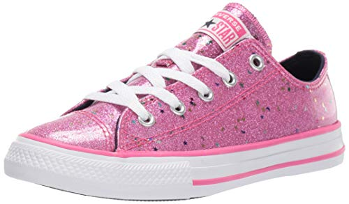 Converse Girls' Chuck Taylor All Star Galaxy Glimmer Sneaker, Mod Pink/Obsidian/White, 3 M US Little Kid