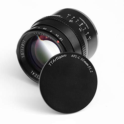 TTArtisan 50mm F1.2 APS-C Cameras Lens Manual Focus MF Compatible with Canon M Mount M1 M2 M3 M5 M6 M6II M10 M100 M50