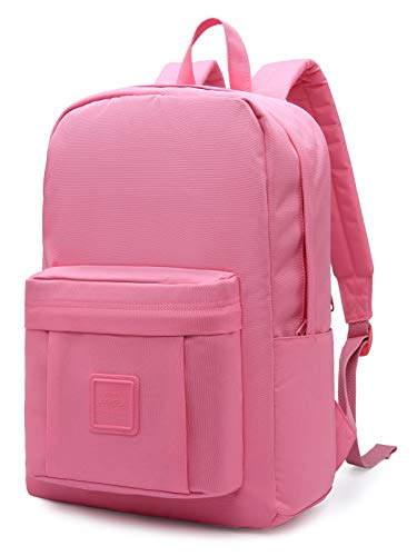 HotStyle 599s Simple Backpack, Classic Bookbag with Multi Pockets, Durable for School & Travel, Blackberry Mousse