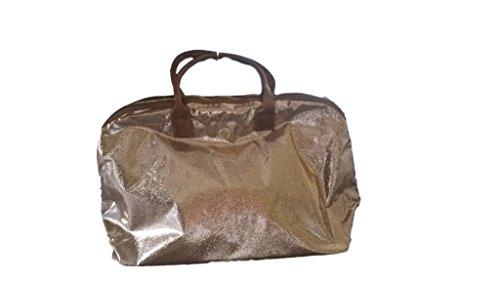 Mud Pie Serena Sparkle Gold Weekender Tote Bag