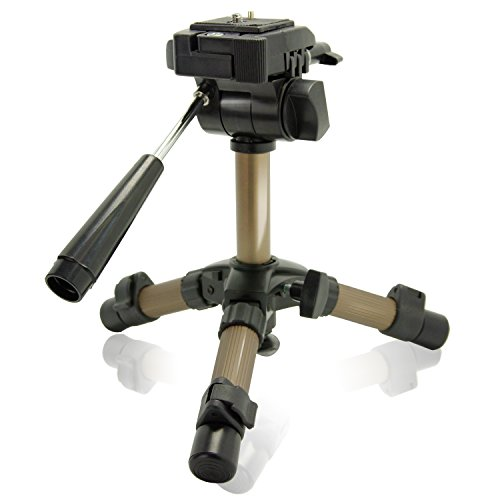LS Photography Max 11' Portable Table Top Tripod with 360 Degree Swivel Panhead and Bubble Level for Camcorders and Digital SLR Cameras, LGG700