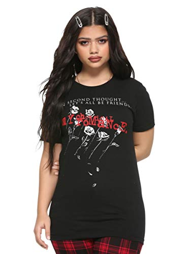 Hot Topic My Chemical Romance Let's All Be Friends Girls T-Shirt Black
