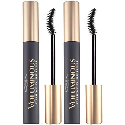 L'OrealParis Makeup Voluminous Original Volume Building Curved Brush Mascara, Black, 2 Count