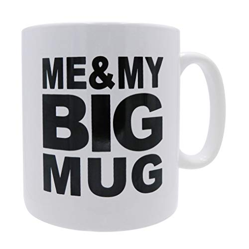 MUG Big Coffee Mug for coffee Enthusiast Me & my Big Mug Mug oversize 28 ounces Mega Size Cup, Extra Large for Big drinks, Office desk decor novelty Gift Coffee Lovers
