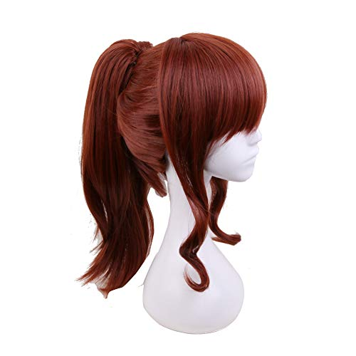 Xingwang Queen Anime Cosplay Wigs with Brown Ponytail Heat Resistant Synthetic Hair Women Girls' Party Wigs