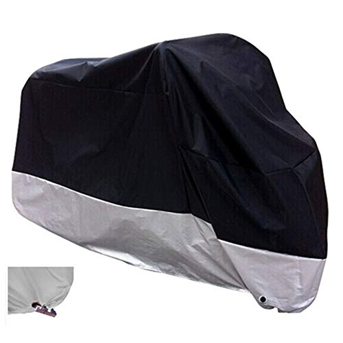 XYZCTEM All Season Black Waterproof Sun Motorcycle Cover,Fits up to 108' Motors (XX Large & Lockholes)