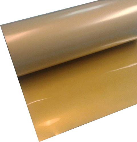 Easyweed Siser Gold 15' (inch) Rolls of Iron on Heat Transfer Vinyl, HTV Coaches World (3 Feet)