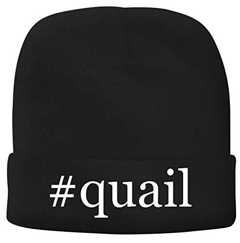 BH Cool Designs #Quail - Men's Hashtag Soft & Comfortable Beanie Hat Cap, Black, One Size