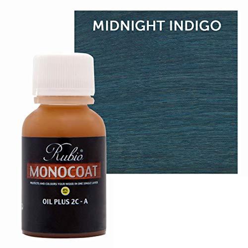 Rubio Monocoat Oil Plus 2C-A Sample Wood Stain Midnight Indigo 20ml