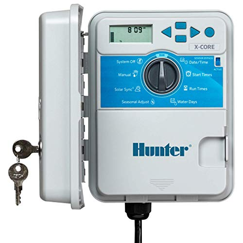 Hunter Sprinkler XC400 X-Core 4-Station Outdoor Irrigation Controller, Small