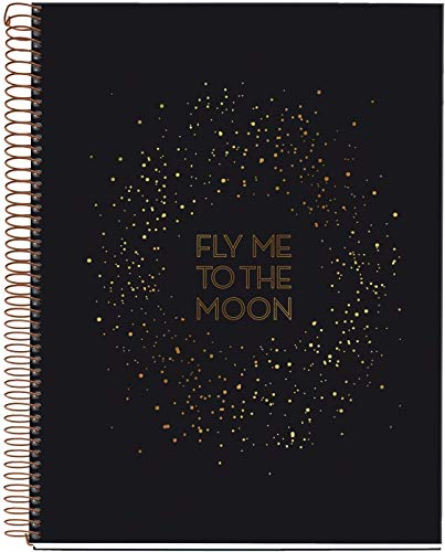 Miquelrius Large 4 Subject Wirebound Notebook - Hardcover, (120 Sheets-240 Pages, Lined), 8.5' x 11' (Galaxy)