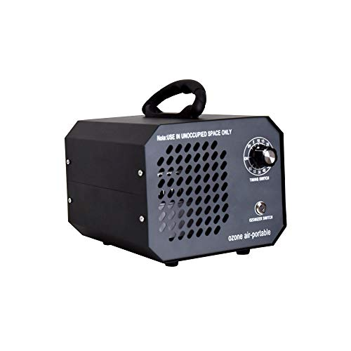 Ozone Air-Portable Commercial Ozone Generator 7,000 mg/h High Capacity O3 Ionizer Machine, Ozonator and Ionizer with Timing Switch Ozone Deodorizer Machine for Home, Basement, Car, Bar and Pet-Black